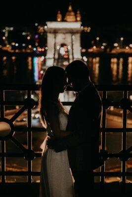 Esti budapesti esküvős sziluett kép
